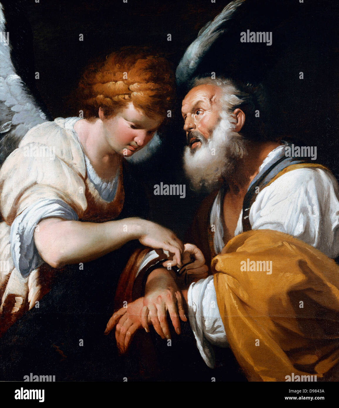 Bernardo Strozzi, The release of St Peter. Circa 1635. Oil on canvas. Art Gallery of New South Wales, The Domain, - Stock Image