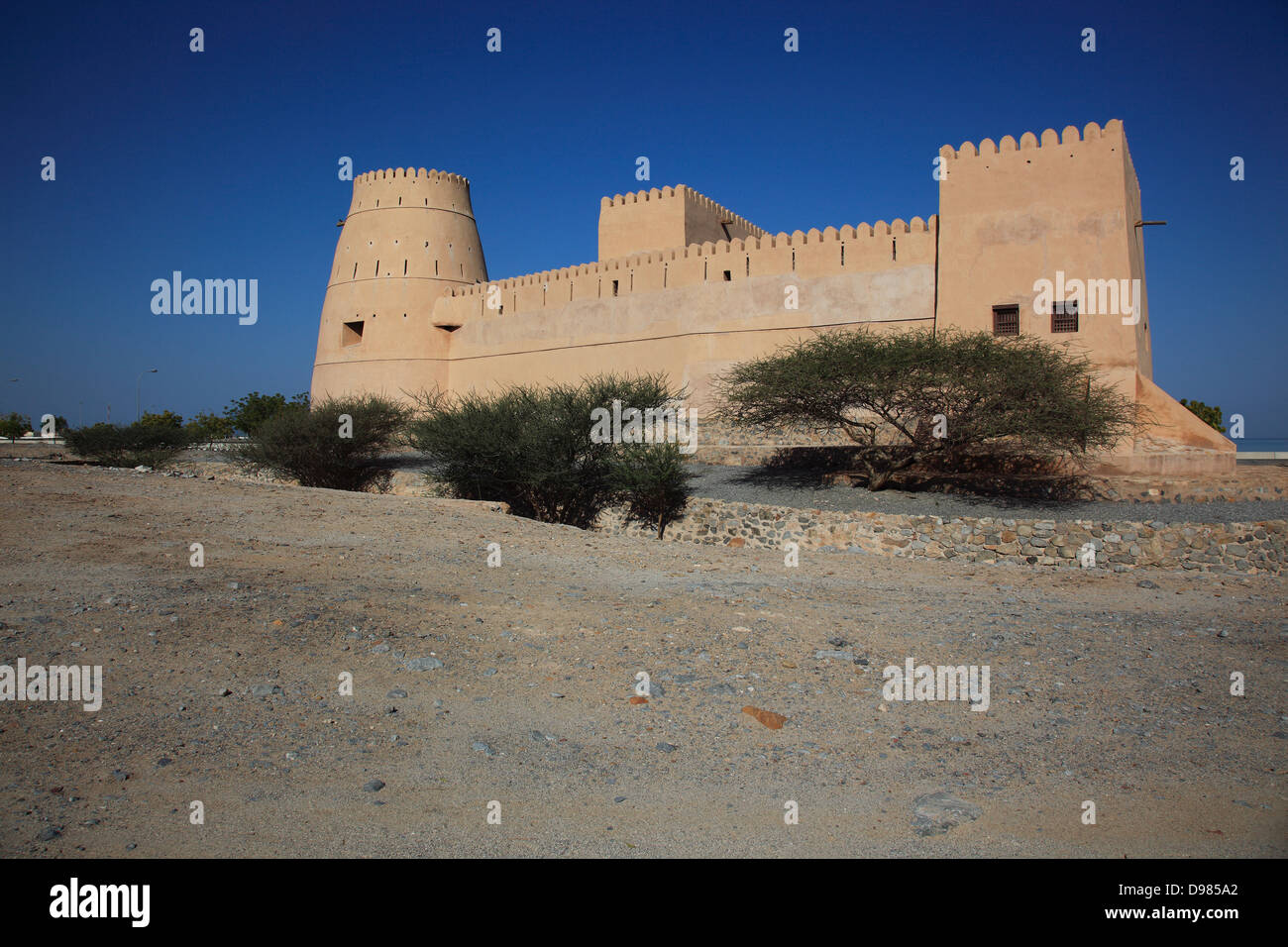 Bukha fort, Bukha, Bucha, in the granny's niches enclave of Musandam, Oman Stock Photo
