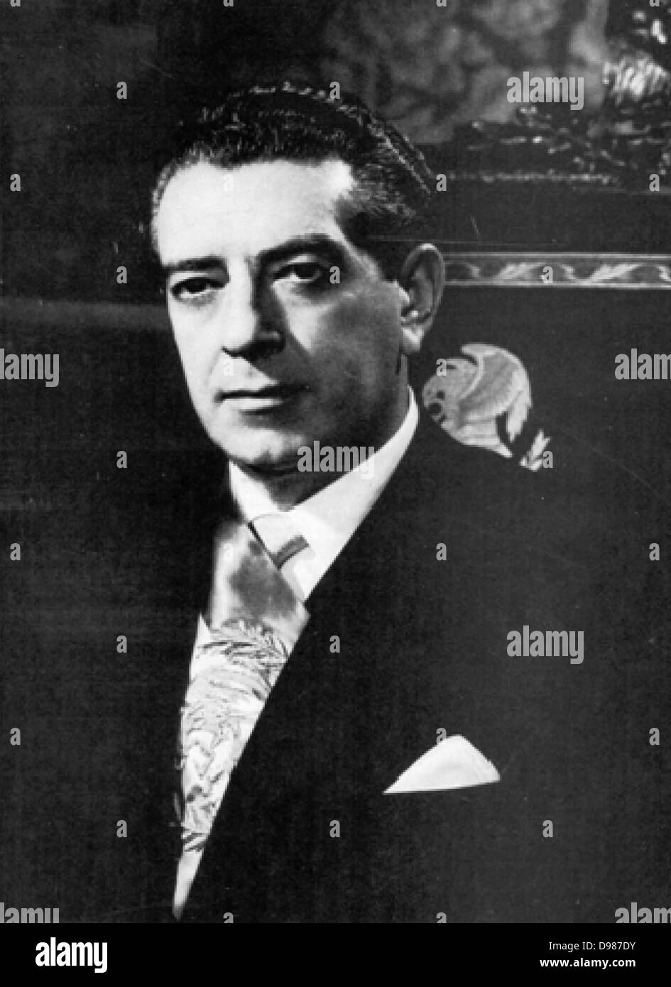 Adolfo Lopez Mateos (26 May 1909 – 22 September 1969) was a Mexican politician affiliated to the Institutional Revolutionary - Stock Image