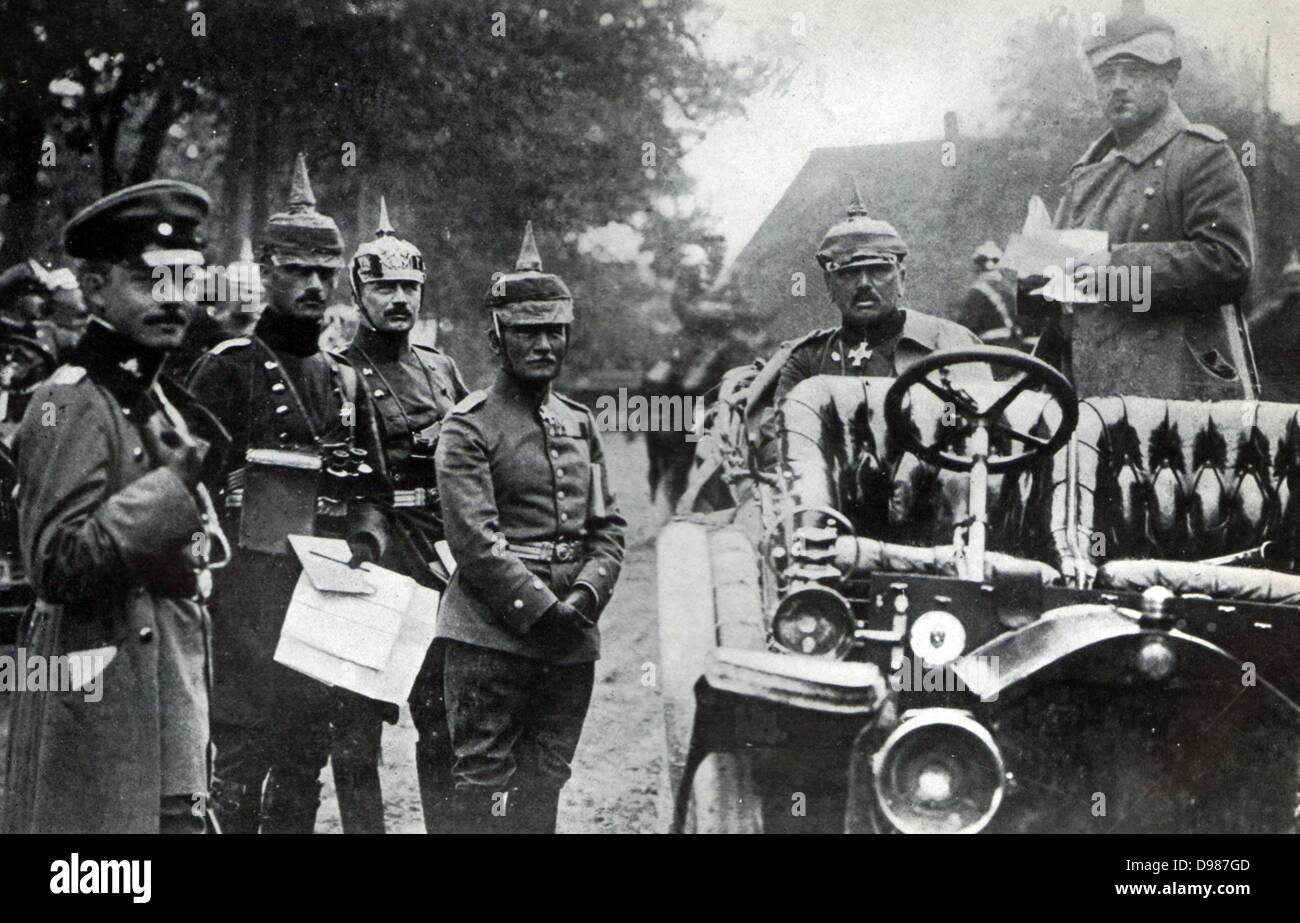 German General Alexander von Kluck (20 May 1846 – 19 October 1934) was a German general during World War I;.  seated - Stock Image