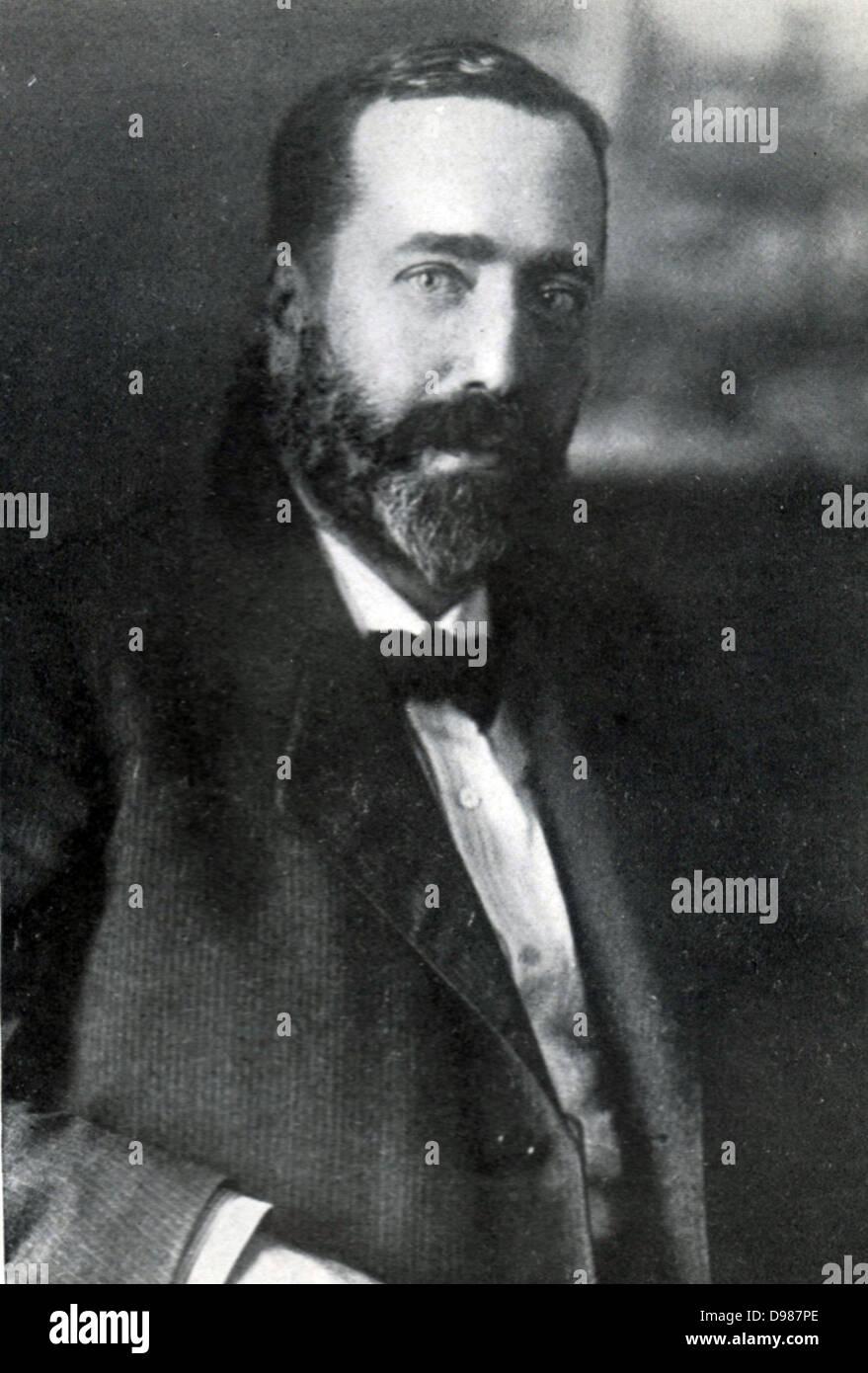 Bernhard Dernburg (1865-1937).  German liberal politician and banker. - Stock Image