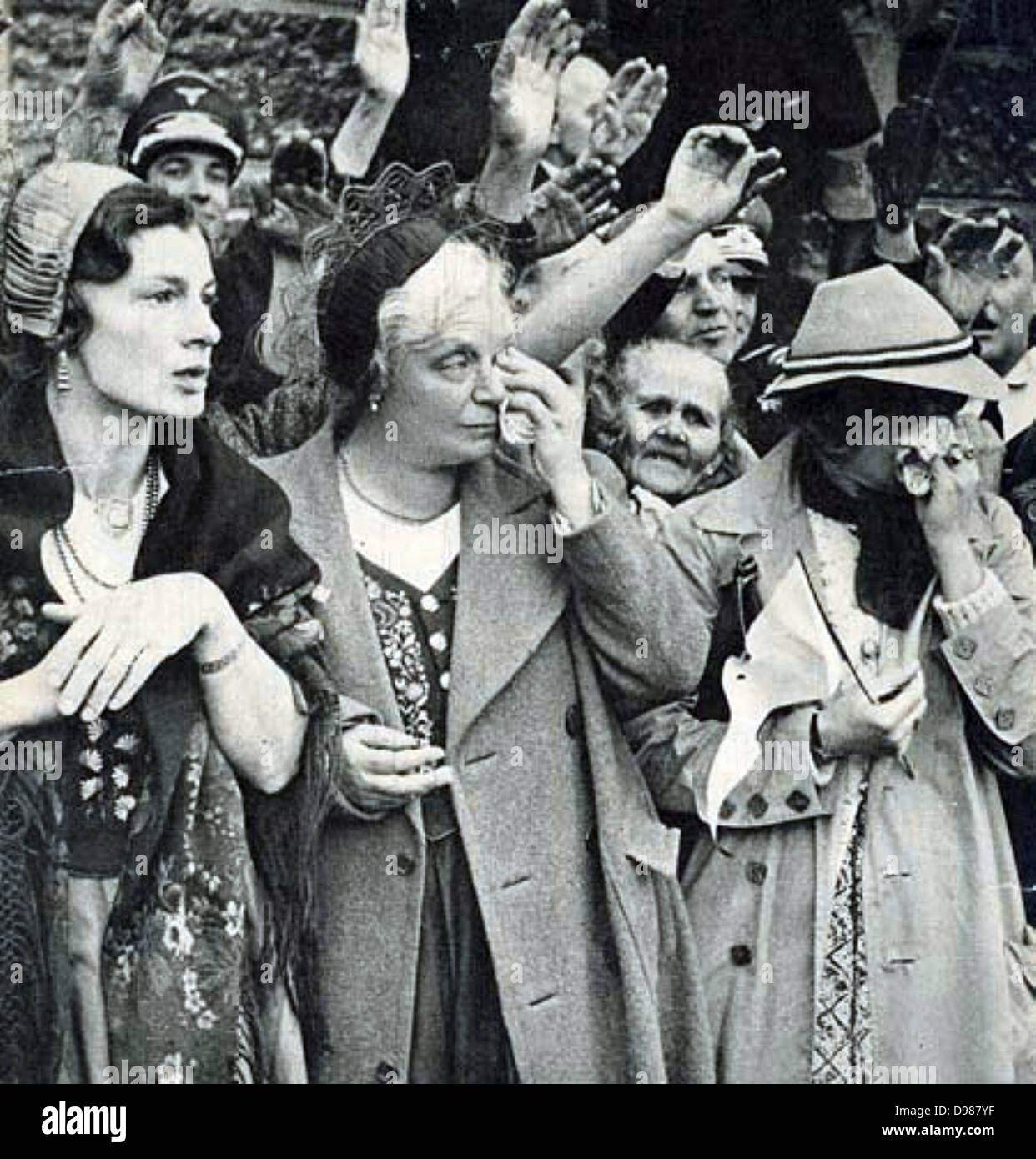 Ethnic Germans In Sudetenland Greet German Forces As They Enter