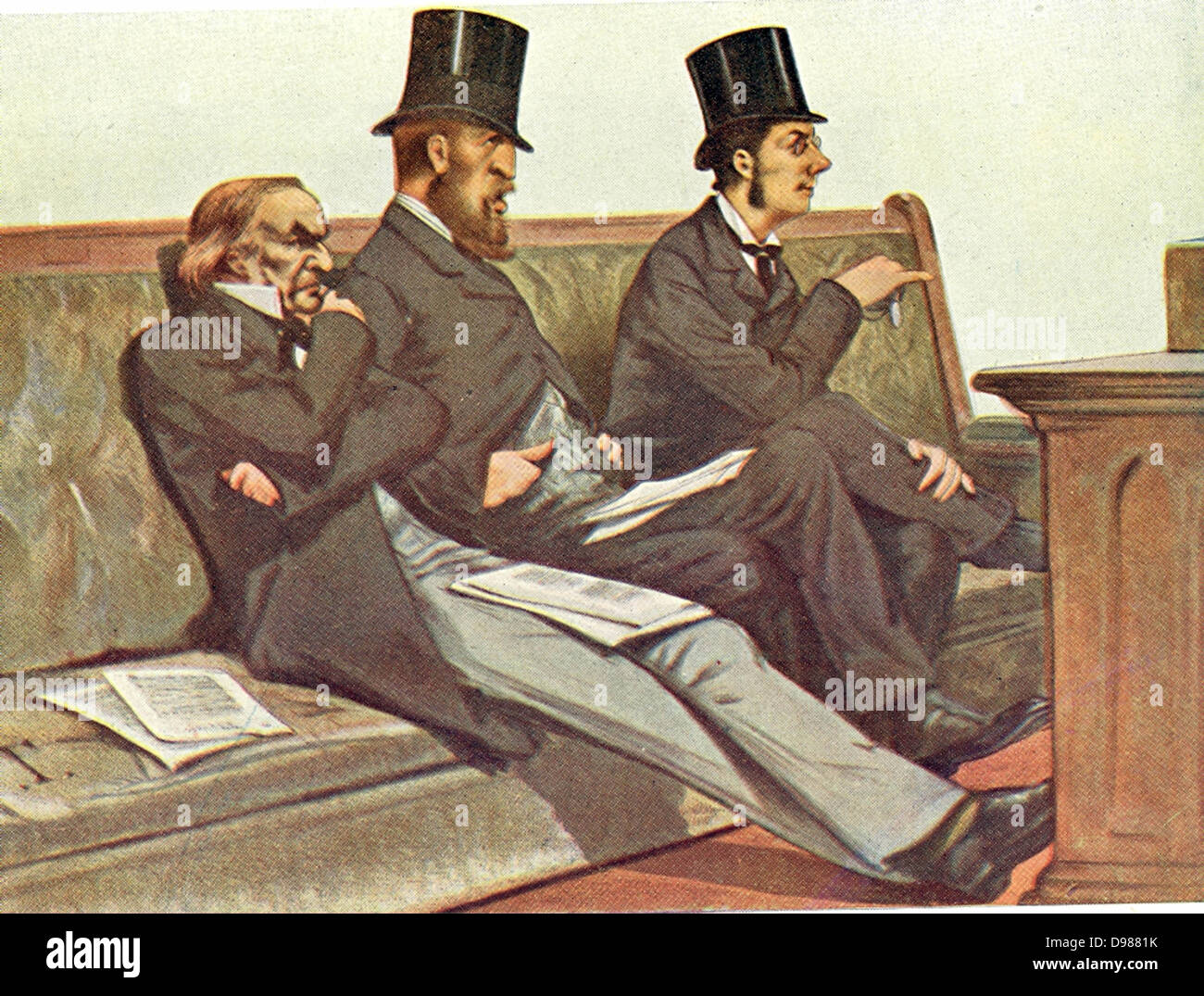 Babble, Birth, and Brummagem' (Talk, Aristocracy, and Birmingham): Gladstone, the Duke of Devonshire and Joseph - Stock Image