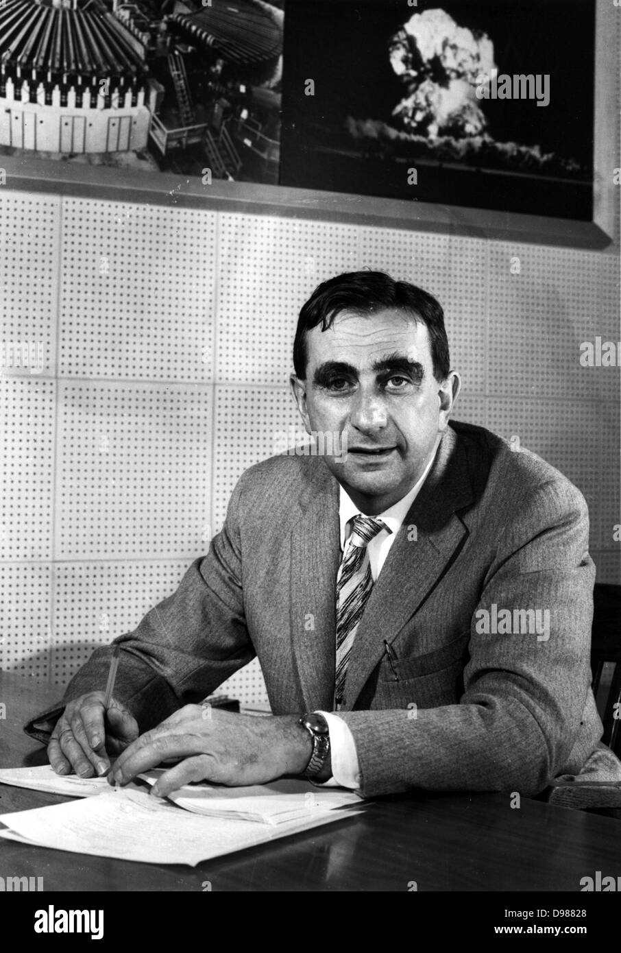 Edward Teller (January 15, 1908 – September 9, 2003) was a Hungarian-born American theoretical physicist, known - Stock Image