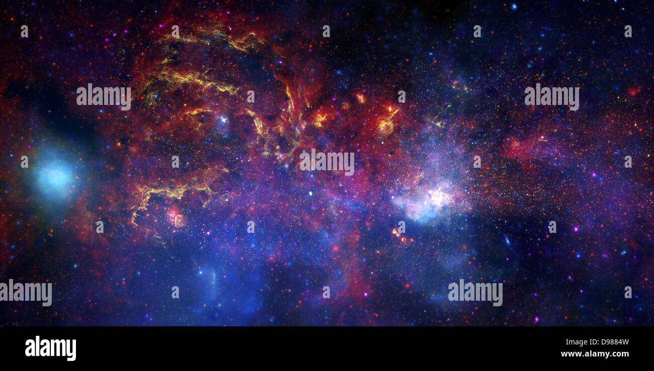 NASA's Great Observatories Examine the Galactic Center Region. November 10, 2009: A never-before-seen view of - Stock Image