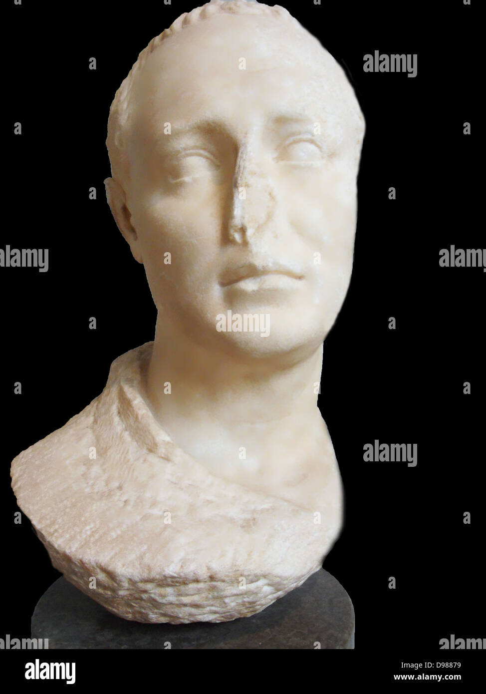 Marble portrait of an unknown man. Hellenistic, 100-50 BC. found at Koskinu, Rhodes. - Stock Image