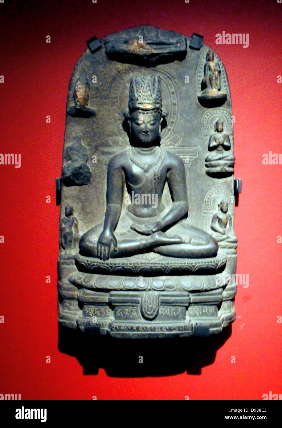 Bodisattva in stone from Bengal 900-1100. - Stock Image