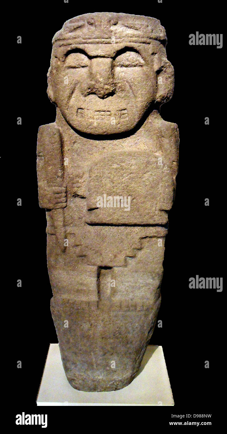 Tomb Guardian from Colombia, AD 200-600. - Stock Image