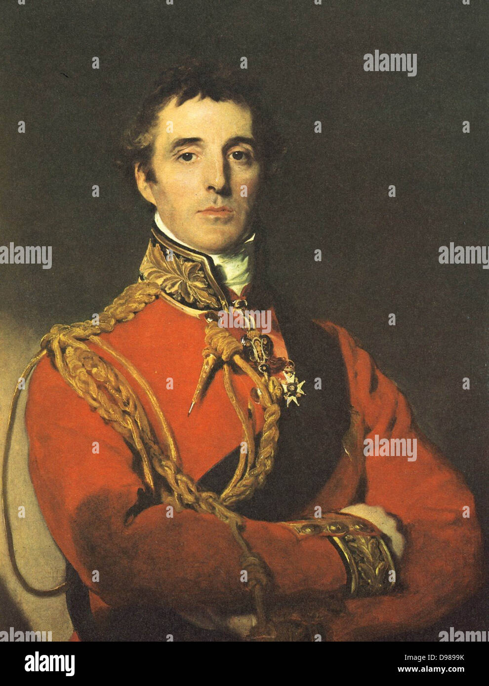 Arthur Wellesley, lst Duke of Wellington (1760-1852) Anglo-Irish soldier and statesman. British Prime Minister 1827. - Stock Image