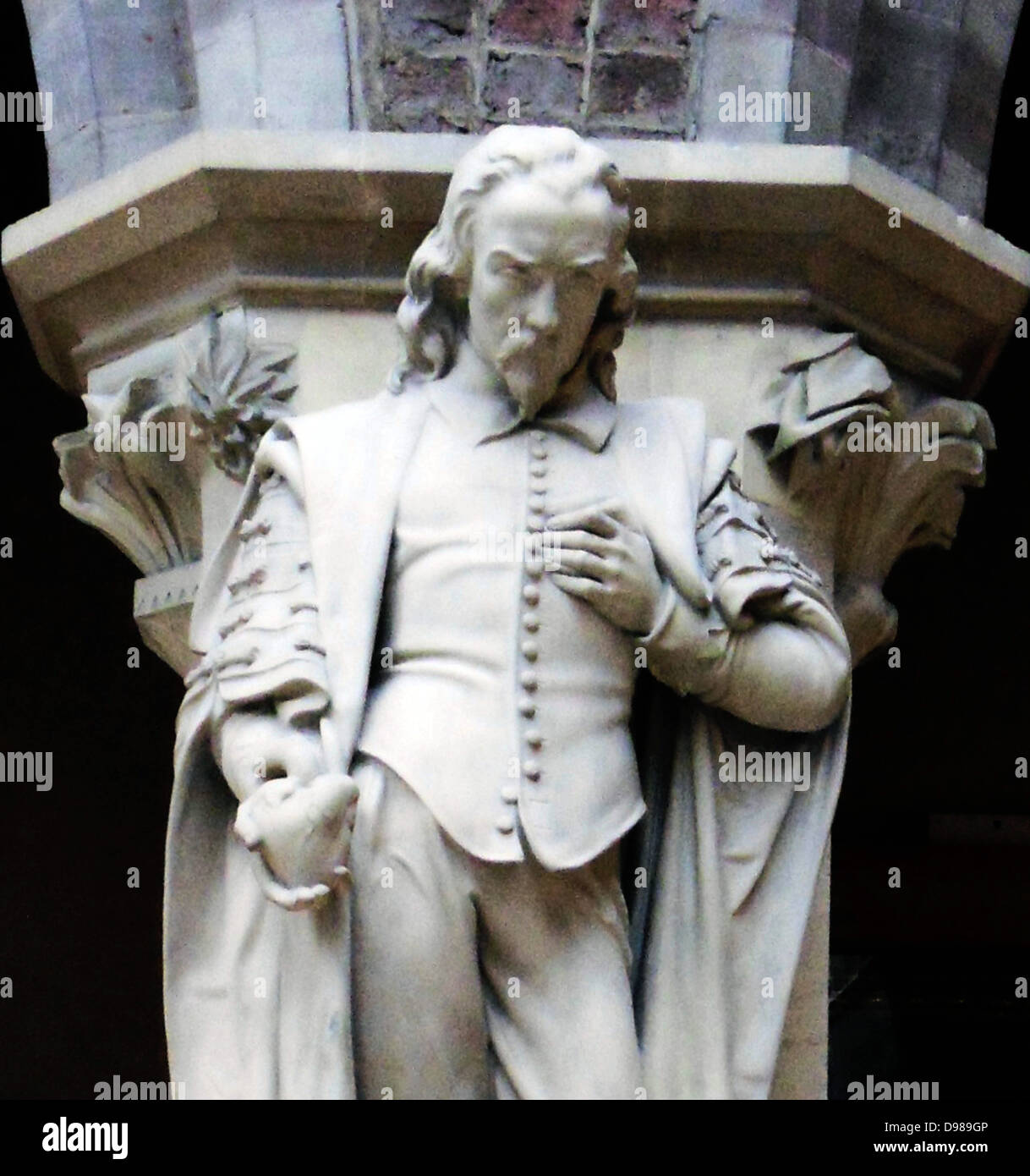 William Harvey, statue - Stock Image