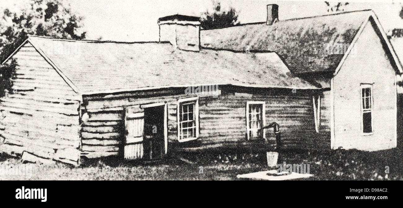 The homestead near Kearney, Missouri, where Frank (1843-1915) and Jesse Woodson James (1847-1882) were born. American - Stock Image