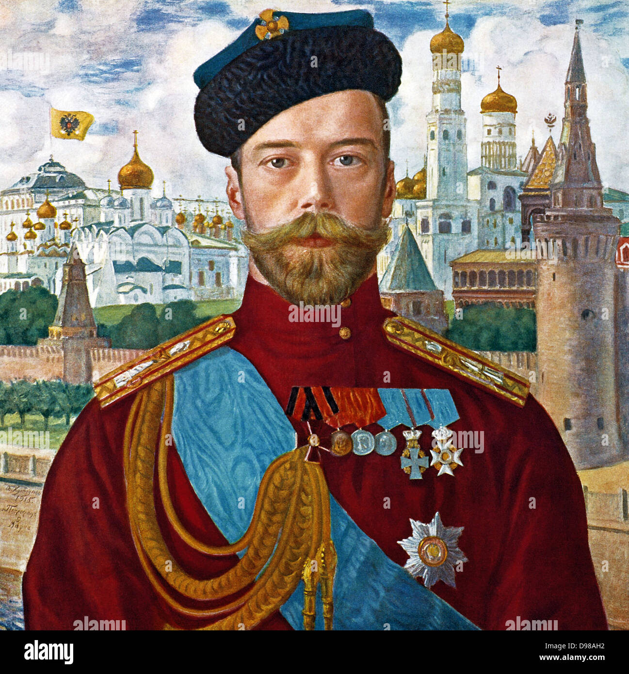 Boris Kustodiev. (1878-1927). Tsar Nicholas II. 1915. Stock Photo