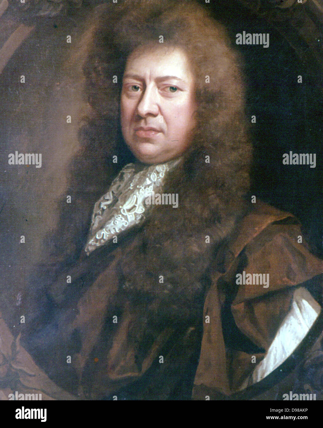 Samuel Pepys (1633-1703) English diarist and naval administrator. Became Secretary to the Admiralty. Portrait by - Stock Image
