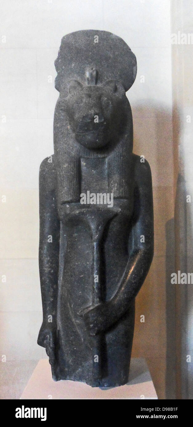 The goddess Sekhmet, reign of Amenhotep III (1391-1353 BC) 18th dynasty, diorite - Stock Image