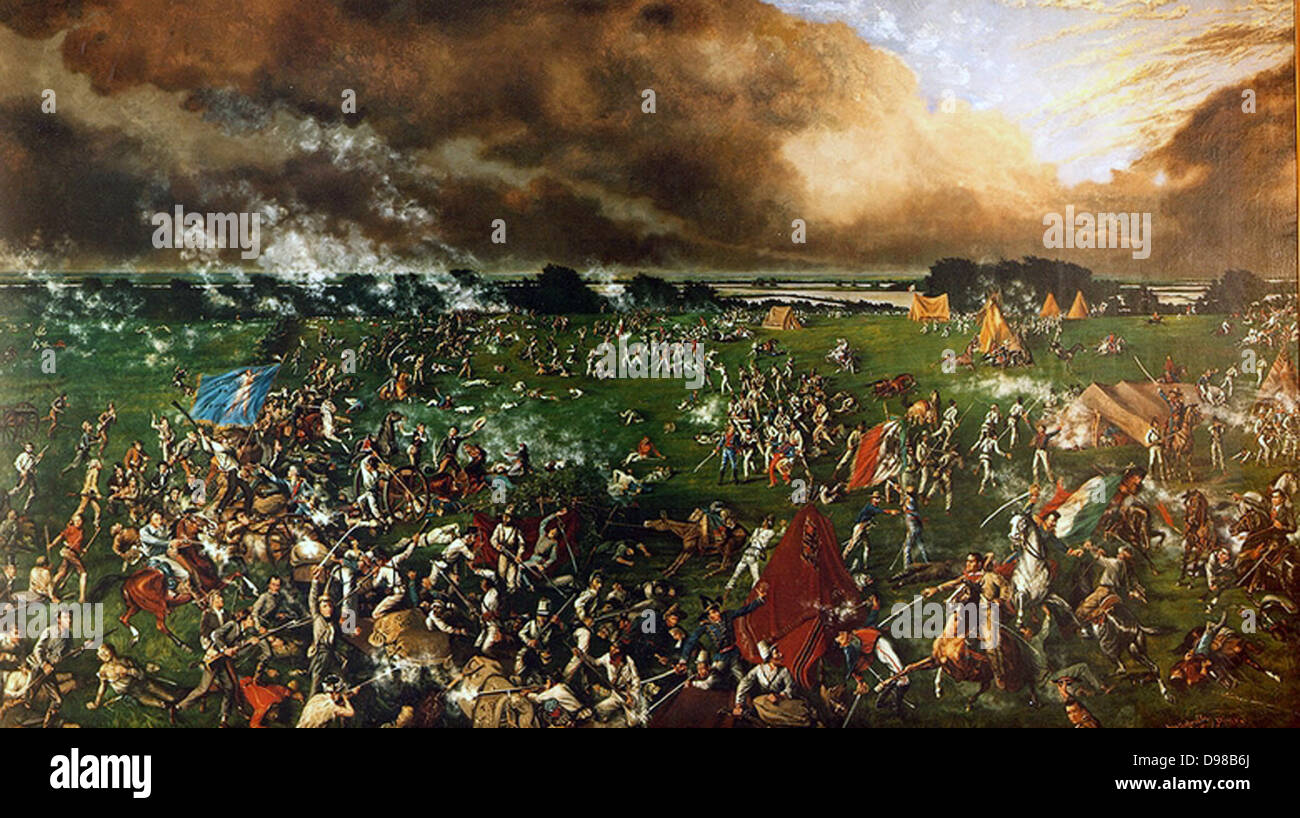 Battle of San Jacinto, 21 April 1836: Texas War of Independence (from Mexico) also called the Texas Revolution. - Stock Image