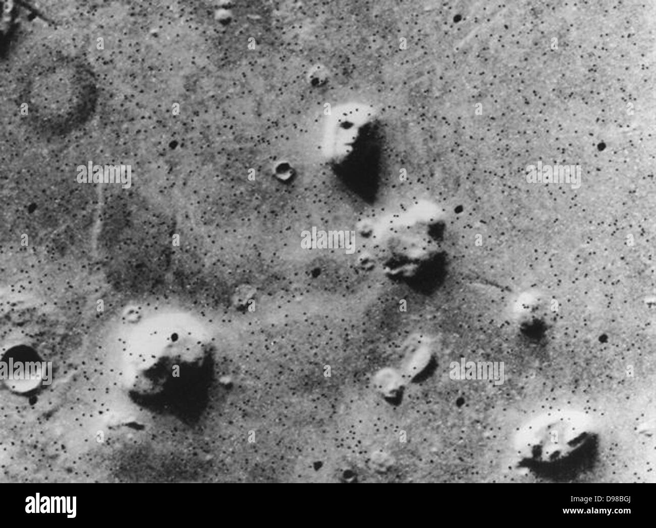 Viking orbiter image of the 'Face on Mars,' taken 25 July 1976 On 22 July 2006, the DLR-operated High Resolution Stock Photo