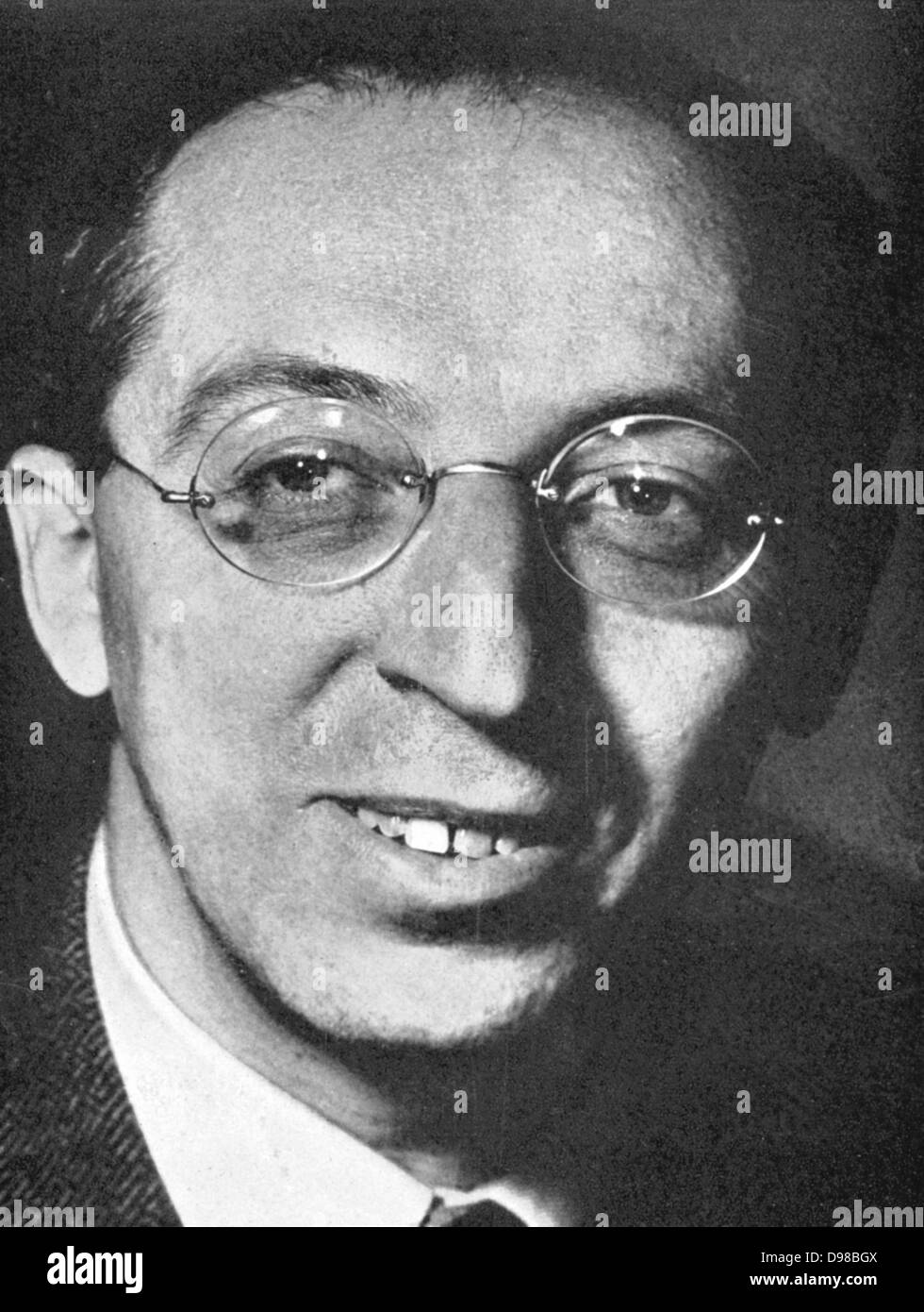 Aaron Copland (1900-1990) American composer and pianist. - Stock Image