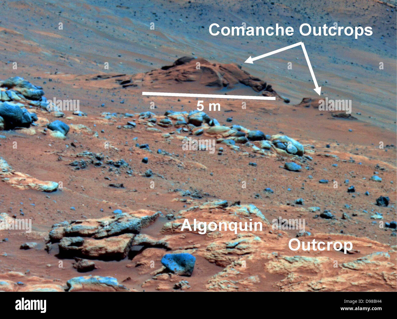 Comanche Outcrop on Mars Indicates Hospitable Past - Stock Image