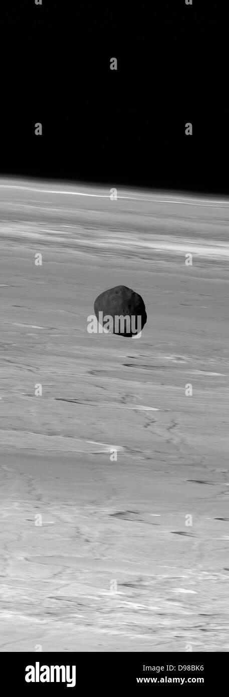 Martian Moon Phobos from Mars Express - Stock Image