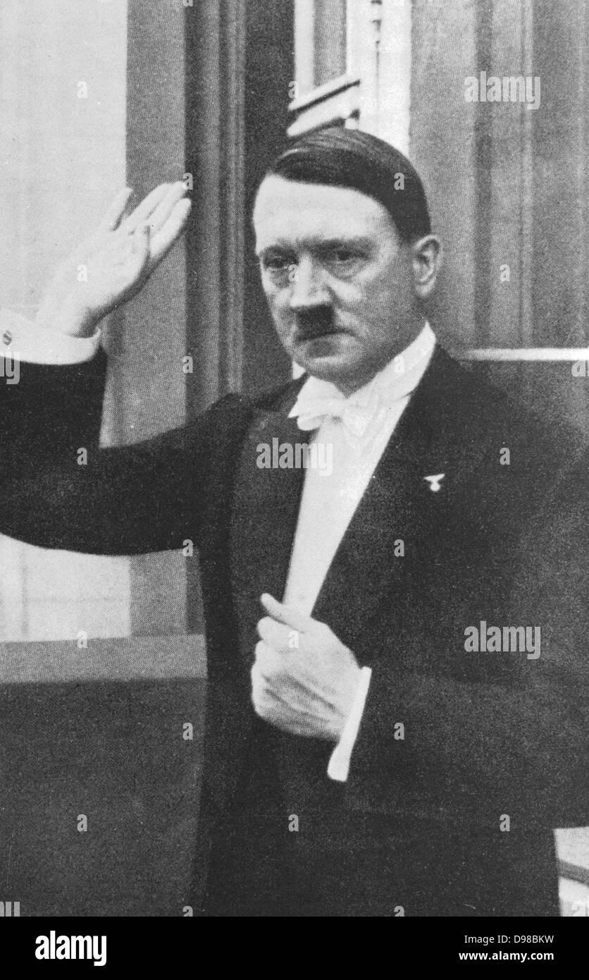 Adolph Hitler (1889-1945) German dictator a1933 - Stock Image