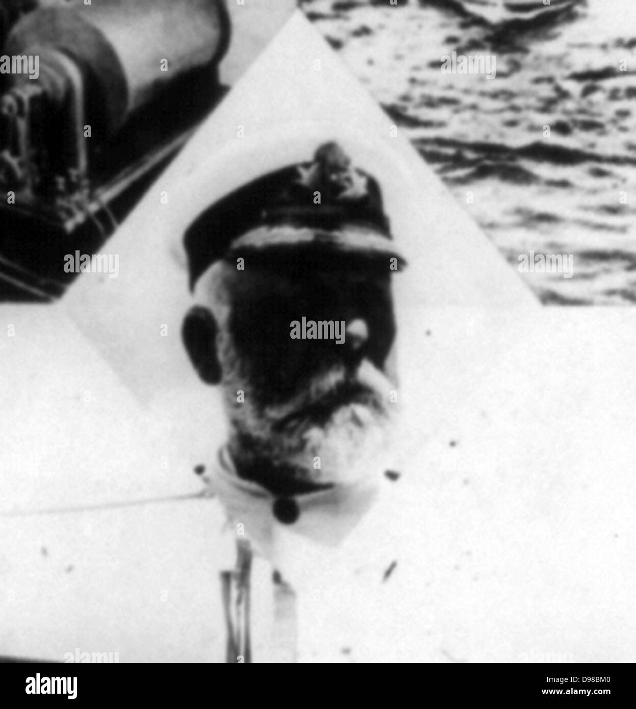 The great Titanic disaster -Captain Smith of the Titanic 1912 - Stock Image