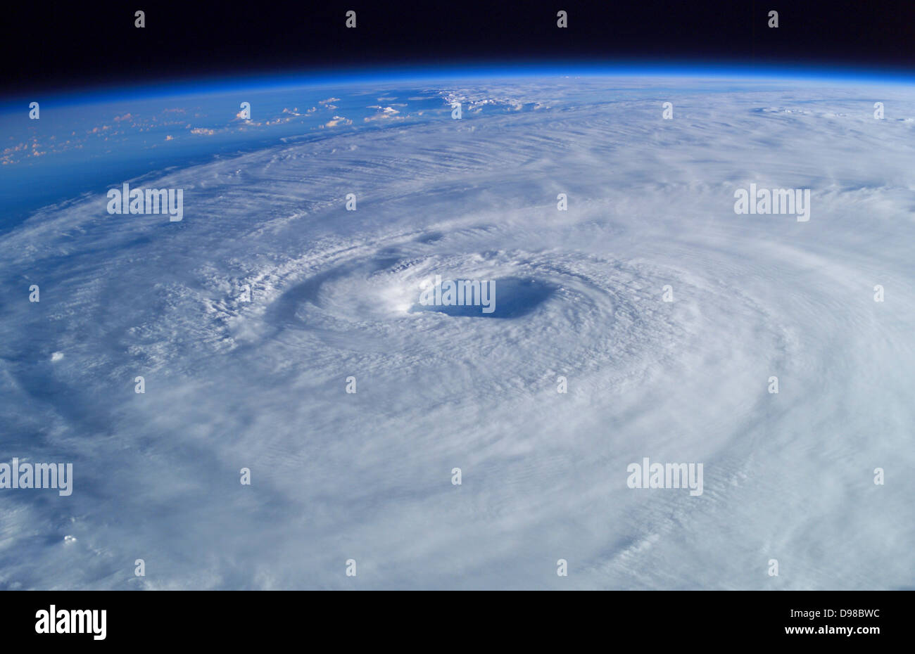 Hurricane Isabel Over the Atlantic Ocean, September 15, 2003 at 10:54:05.640 GMT.  As Seen From the International - Stock Image