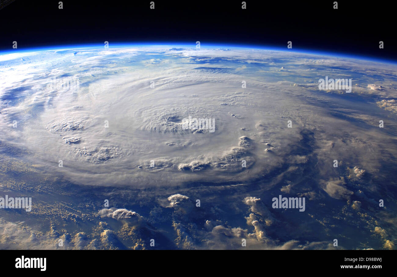 Hurricane Felix Over the Caribbean Sea, September 3, 2007 at 11:38:46.000 GMT As Seen From the International Space - Stock Image