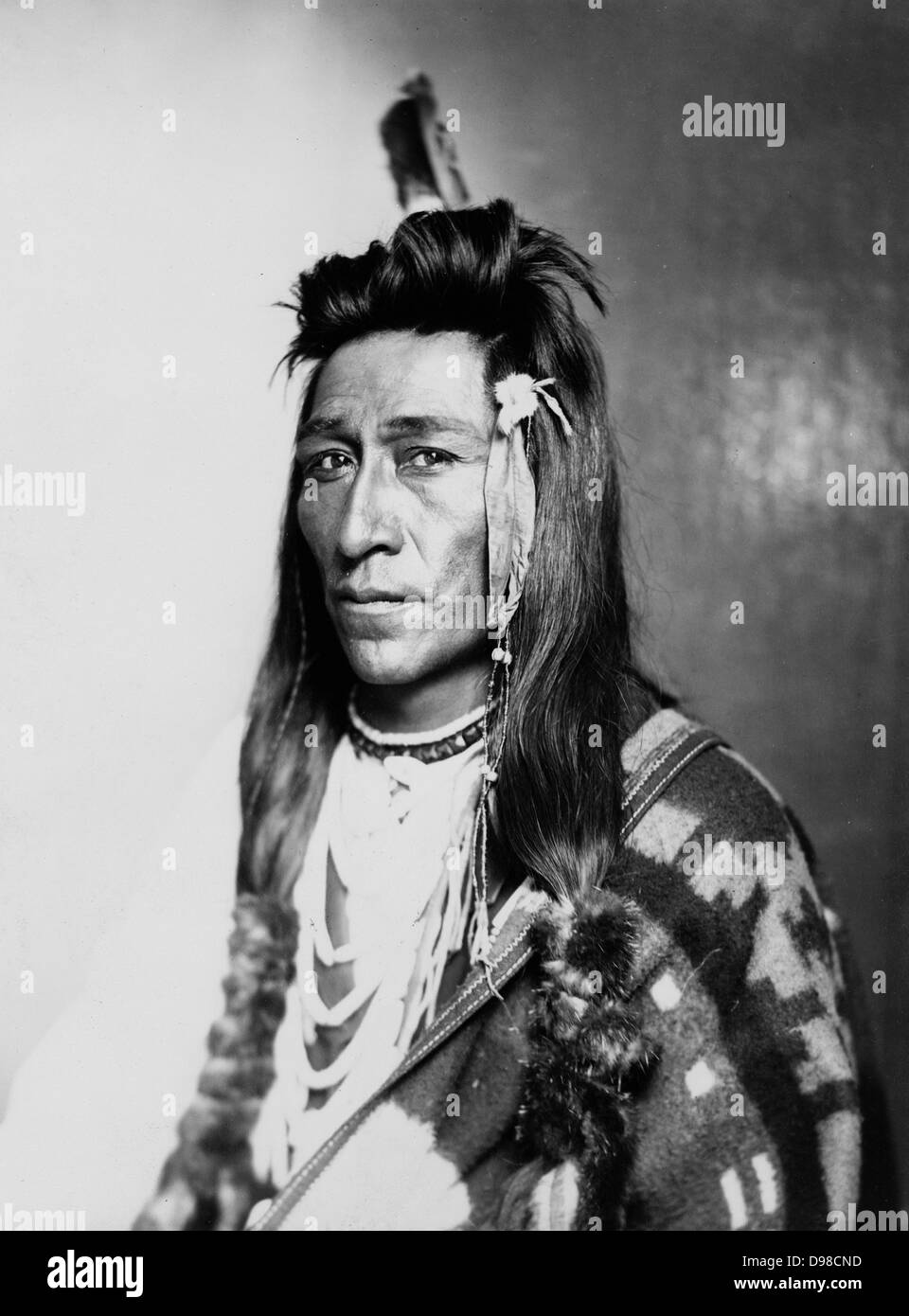 Half-length portrait of male Indian in native dress, 1899. - Stock Image