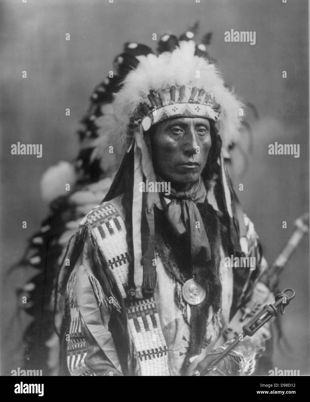 Jack Red Cloud Native North American Sioux Indian. - Stock Image