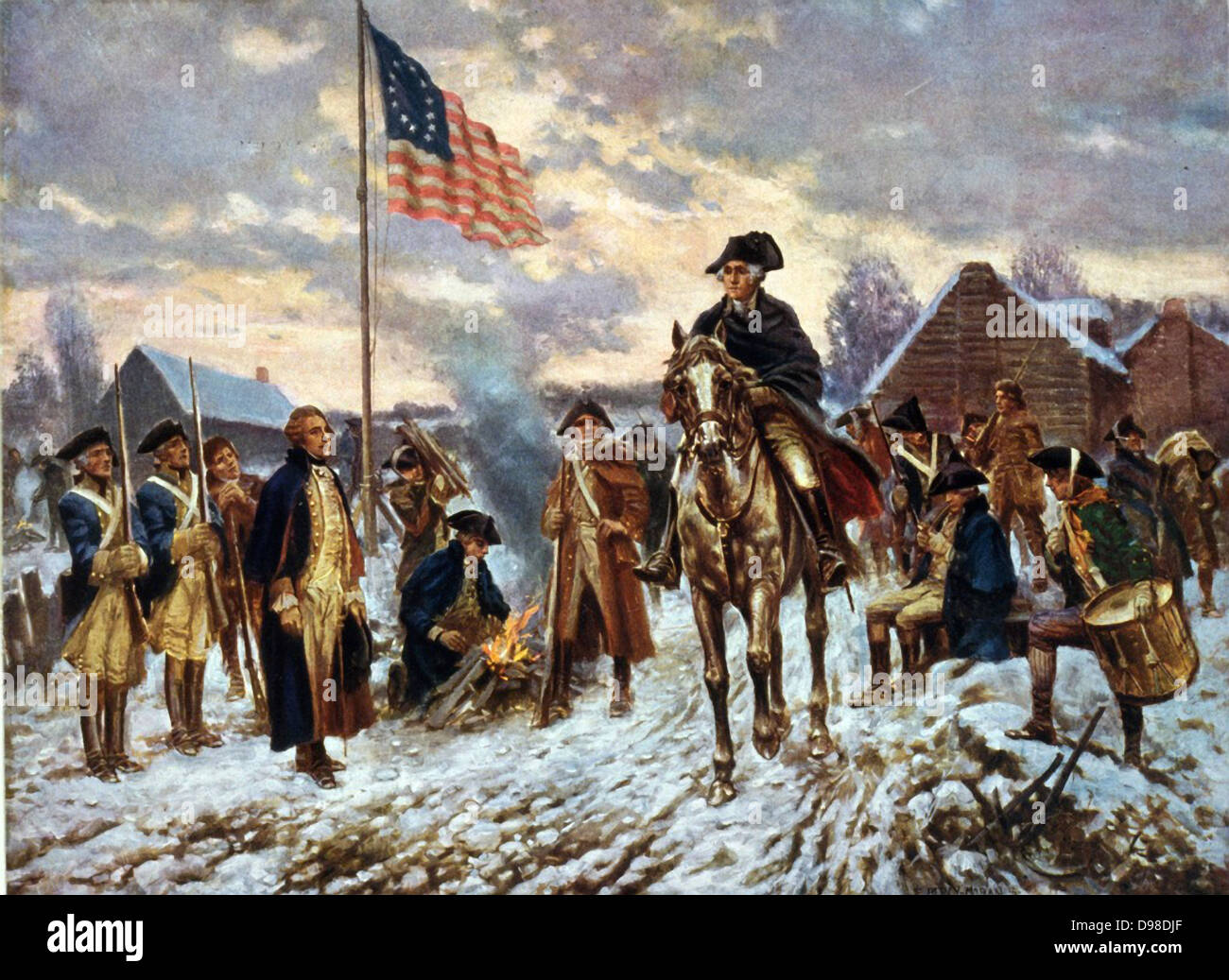 Revolutionary War 1775-1783 (American War of Independence): 'Washington at  Valley Forge', Pennsylvania, l December 1777 the