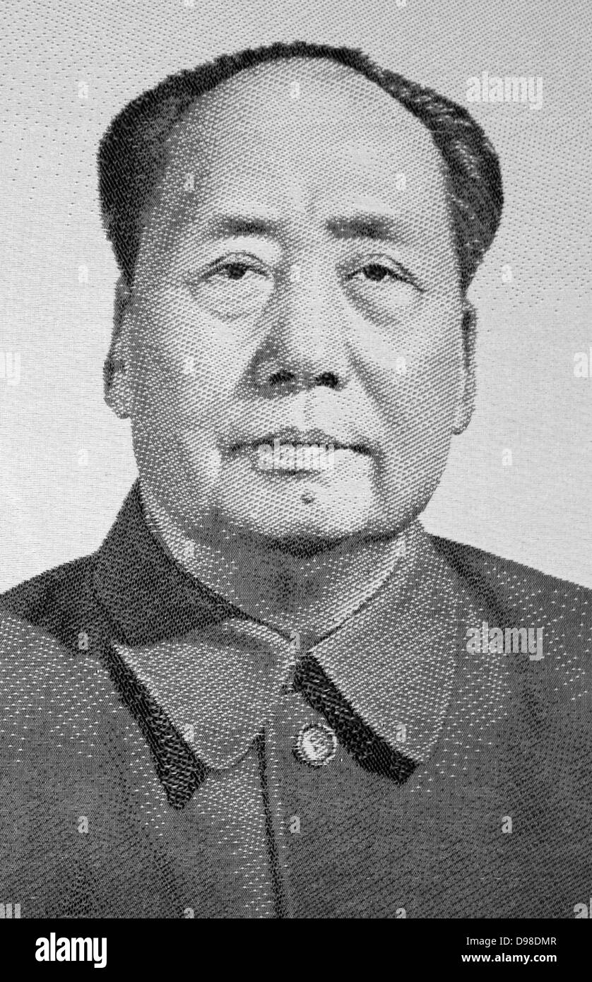 Mao Zedong (1893-1976), founding father of the People's Republic of China from its establishment in 1949.  Mao remains Stock Photo