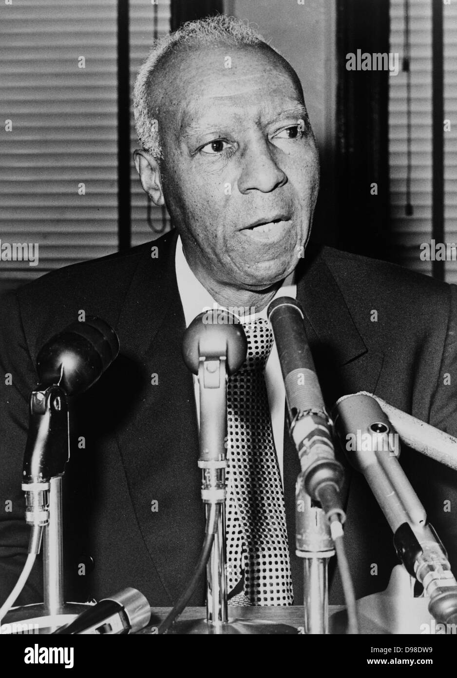 Asa Philip Randolph (1889-1979) prominent African America civil rights leader. - Stock Image