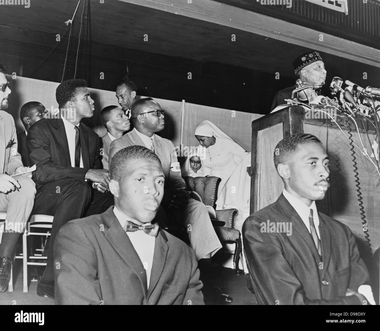 Elijah Muhammad (1897-1975, born Elijah Poole). Converted to Islam in 1931, from 1934 until his death be was leader - Stock Image