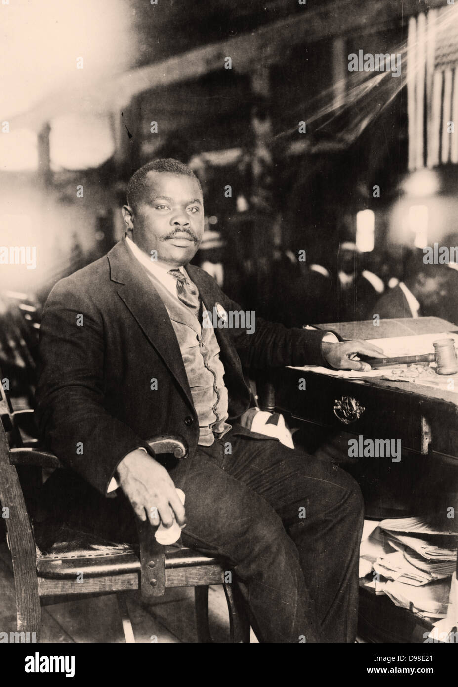 Marcus Mosiah Garvey Jr. (1887-1940) Jamaican-born Pan-Africanist publisher, journalist and orator. Founder in 1914 - Stock Image
