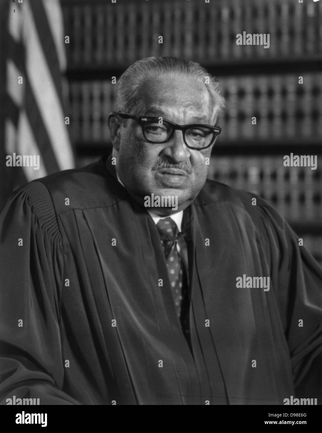 Thugood Marshall 1908-1993) American jurist. First African American to serve on the Supreme Court 1767-1991. - Stock Image