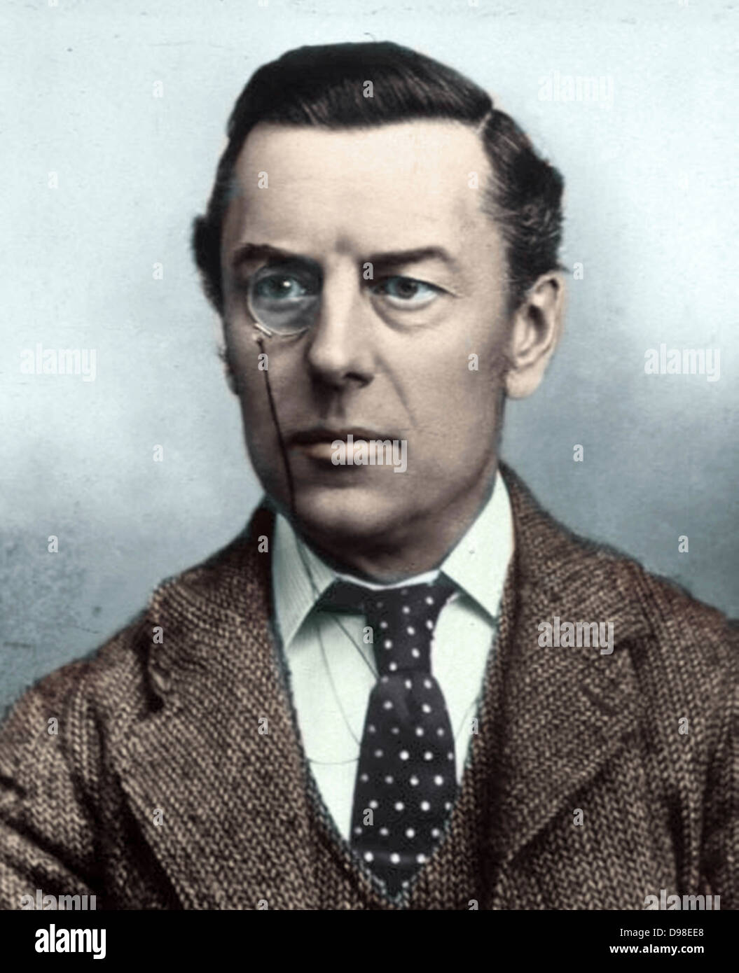 Joseph Chamberlain (8 July 1836 – 2 July 1914) British businessman, politician, and statesman - Stock Image