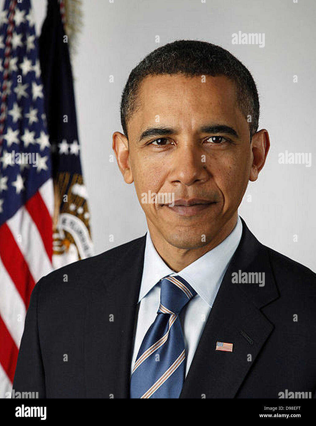 Official portrait of United States President Barack Obama in 2010 - Stock Image