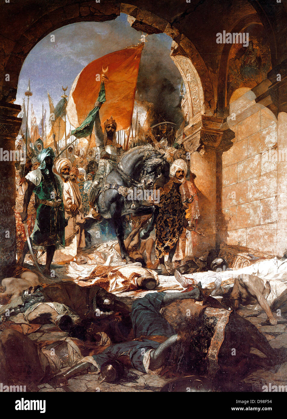 Benjamin Constant 1845–1902, French artist. 'The Entry of Mehmet II into Constantinople' 1876 - Stock Image