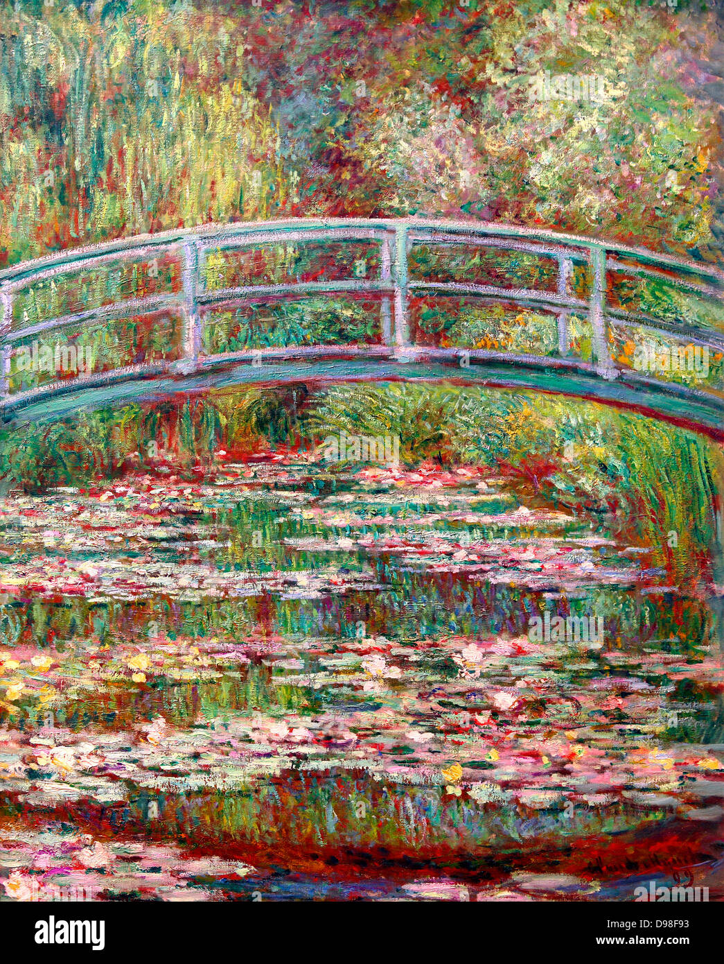Bridge Over a Pond of Water Lilies, Claude Monet 1899 - Stock Image