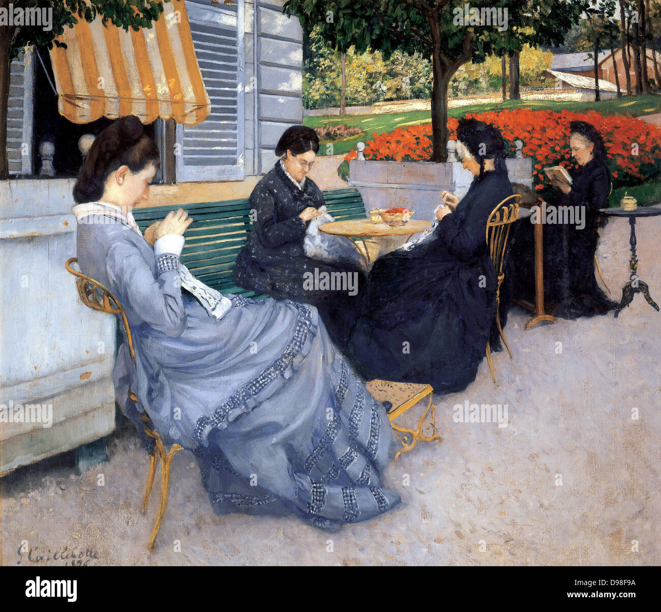 Gustave Caillebotte 1848 – 1894, French painter. (Untitled portrait of a group of women). - Stock Image