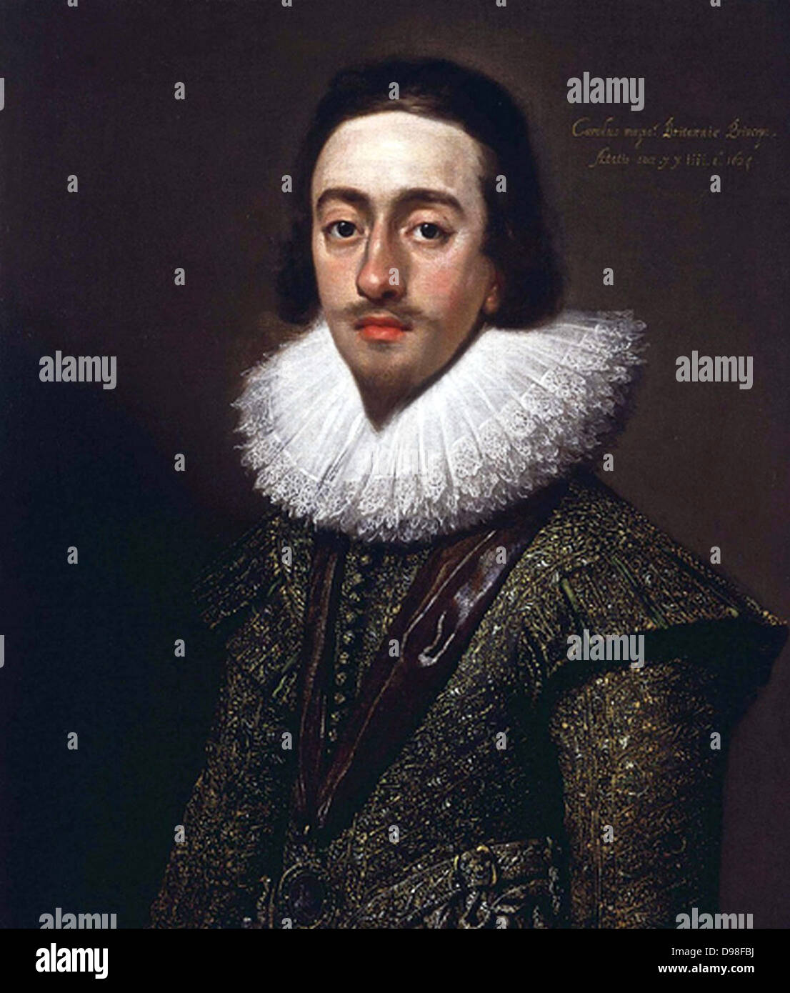 Charles I as Prince of Wales, 1624 by Mytens - Stock Image