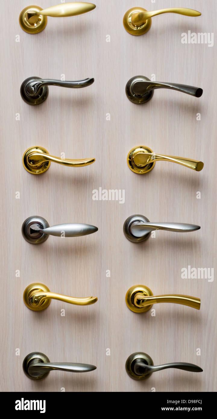Set metal handles - Stock Image
