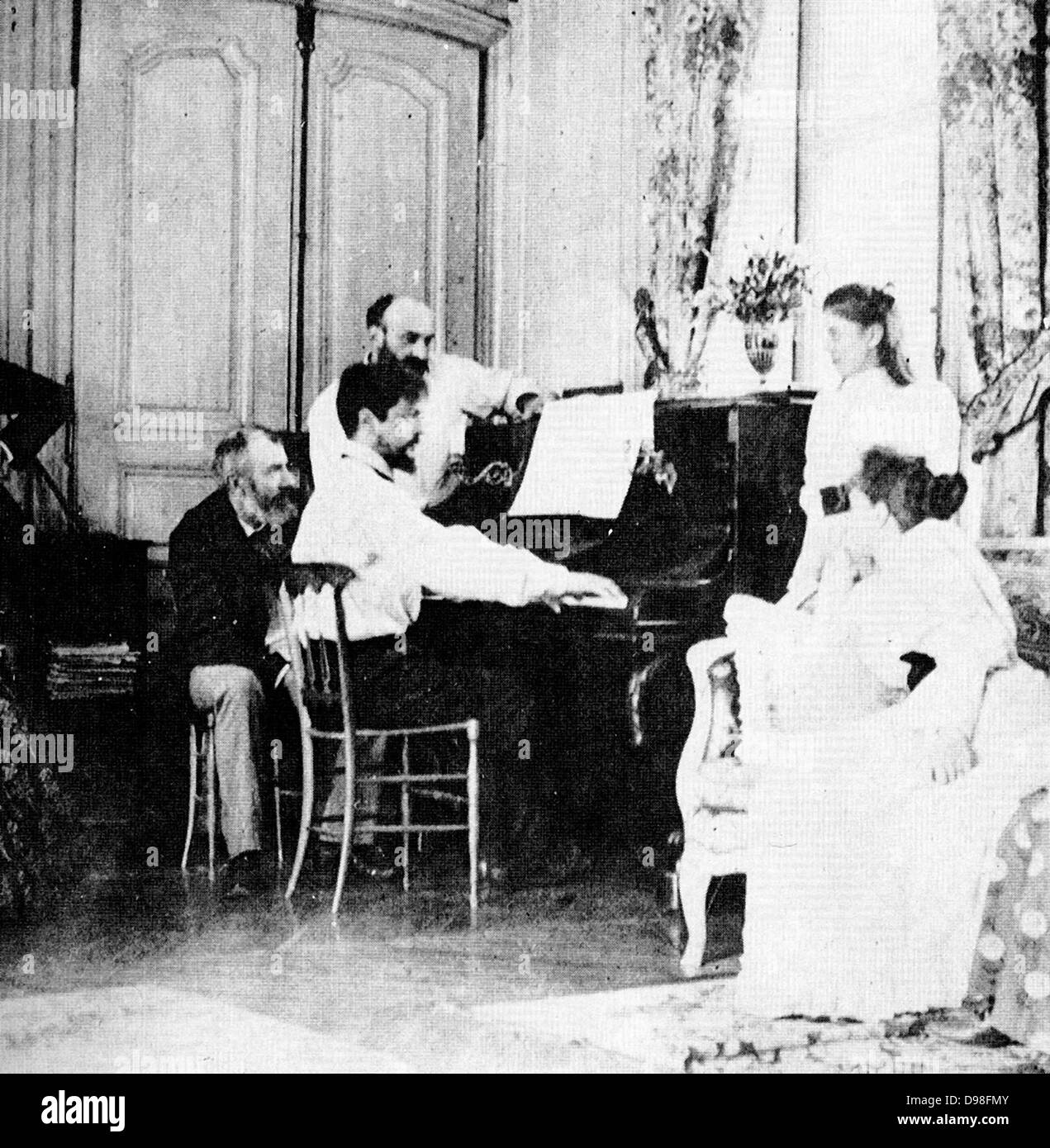 (Achille) Claude Debussy (1862-1919) French composer. - Stock Image