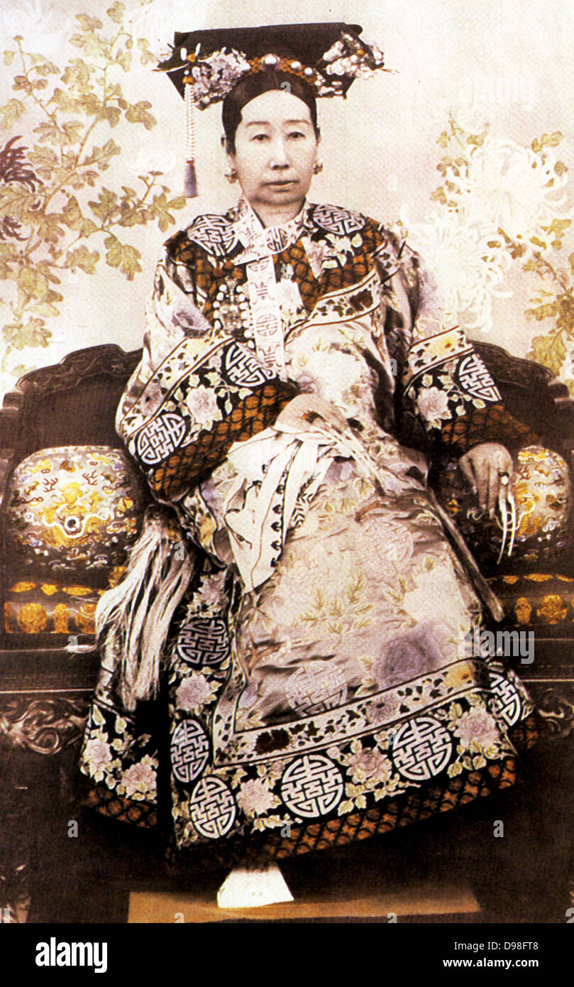 Dowager Empress Tzu Hsi of China died 1908 - Stock Image