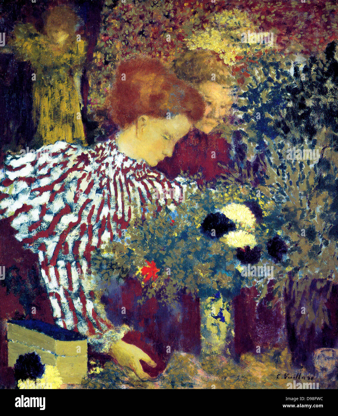 Edouard Vuillard (1868- 1940) French painter associated with the Nabis group of artists. The Striped Blouse - Stock Image