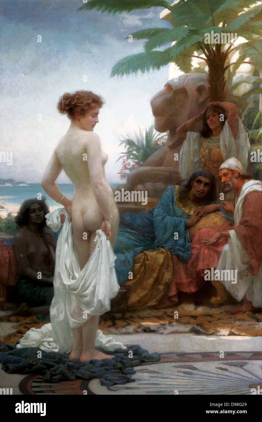 The White Slave, 1894 by Ernest Normand (1859-1923) English orientalist painter. - Stock Image
