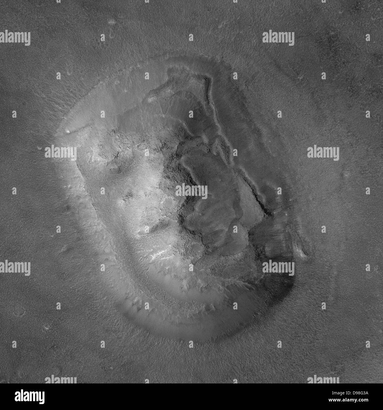 Cydonia is a region of Mars containing several hills, which has attracted attention because one of the hills resembles - Stock Image