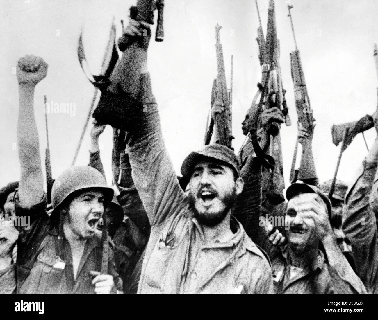Fidel Alejandro Castro Ruz (born August 13, 1926) is a communist Cuba n politician - Stock Image