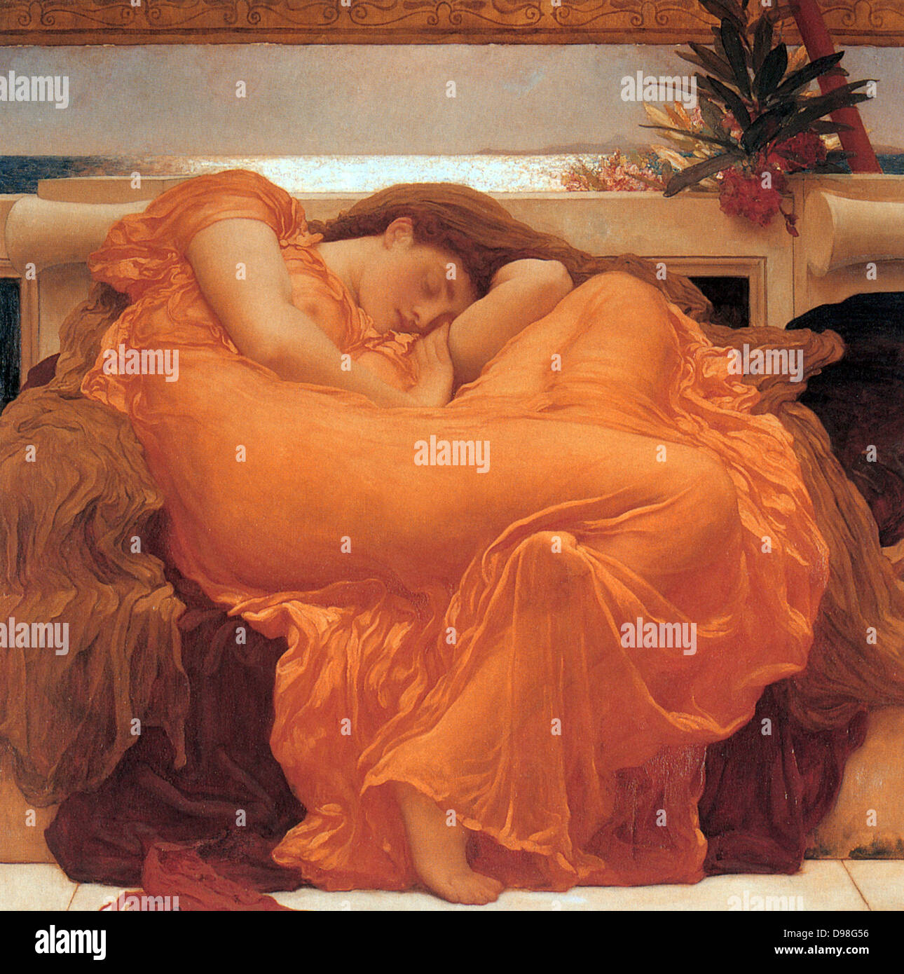 Frederic Leighton 1830-1896 Flaming June 1895 - Stock Image