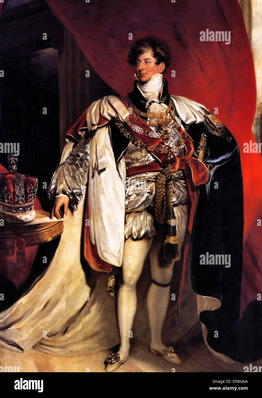George IV 1762 – 1830, King of Great Britain 1820 - 1830. Portrait as prince Regent by Thomas Lawrence 1822 - Stock Image